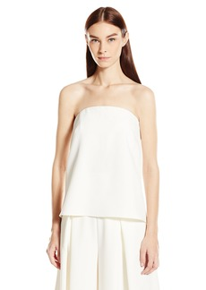 MILLY Women's Italian Cady Strapless Cascade Top