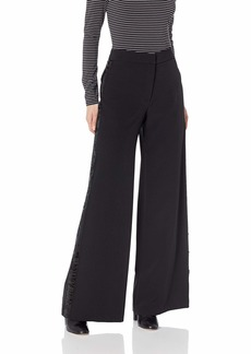 MILLY Women's Italian Cady with Sequin Side Stripe Sia Trousers