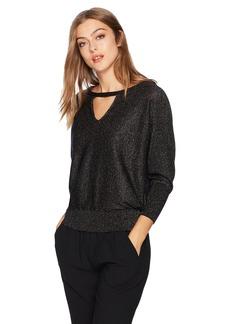 MILLY Women's Italian Shimmer Cutout Sweater  M