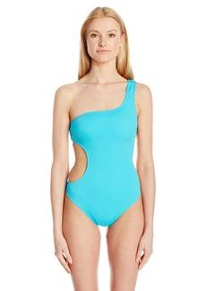 MILLY Women's  Italian Solid Guana One Piece Swimsuit