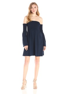 MILLY Women's Jodie Smocked Dress  L