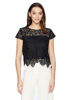 MILLY Women's Lace Baby Tee  0