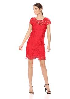 MILLY Women's Lace Chloe Dress red