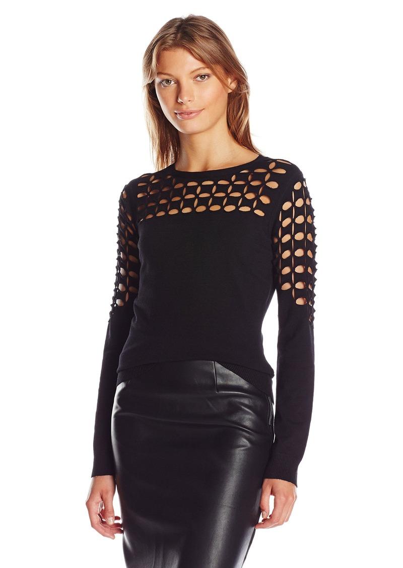 Milly Women's Lattice Stitch Pullover  P