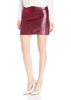 MILLY Women's Lurex Jacquard Mini Skirt