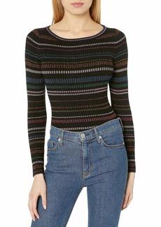 MILLY Women's Metallic Stripe Pullover  S