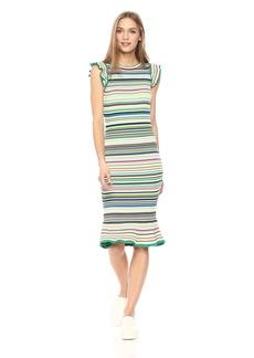 MILLY Women's Micro Stripe Mini Mermaid Dress  S