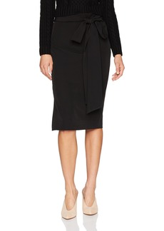 MILLY Women's Midi Bow Skirt