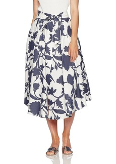 MILLY Women's Midi Jackie Skirt