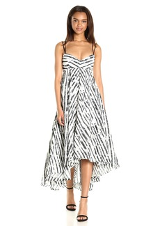 MILLY Women's Mitered Trapeze Dress