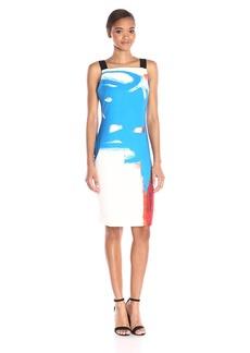 Milly Women's Modern Abstract Print Lou Lou Sheath Dress