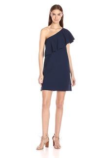 Milly Women's One Shoulder Flounce Dress  M