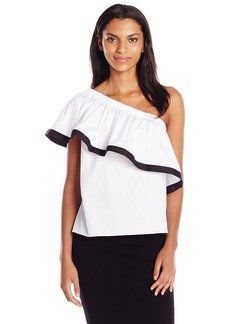MILLY Women's One Shoulder Top  L