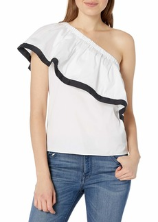 MILLY Women's One Shoulder Top  M