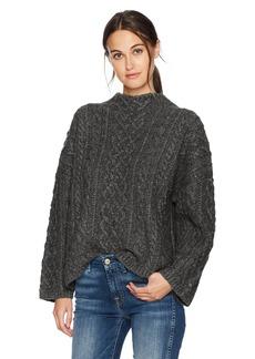 MILLY Women's Oversized Fisherman Sweater  XS