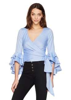MILLY Women's Oxford Shirting Bea Top