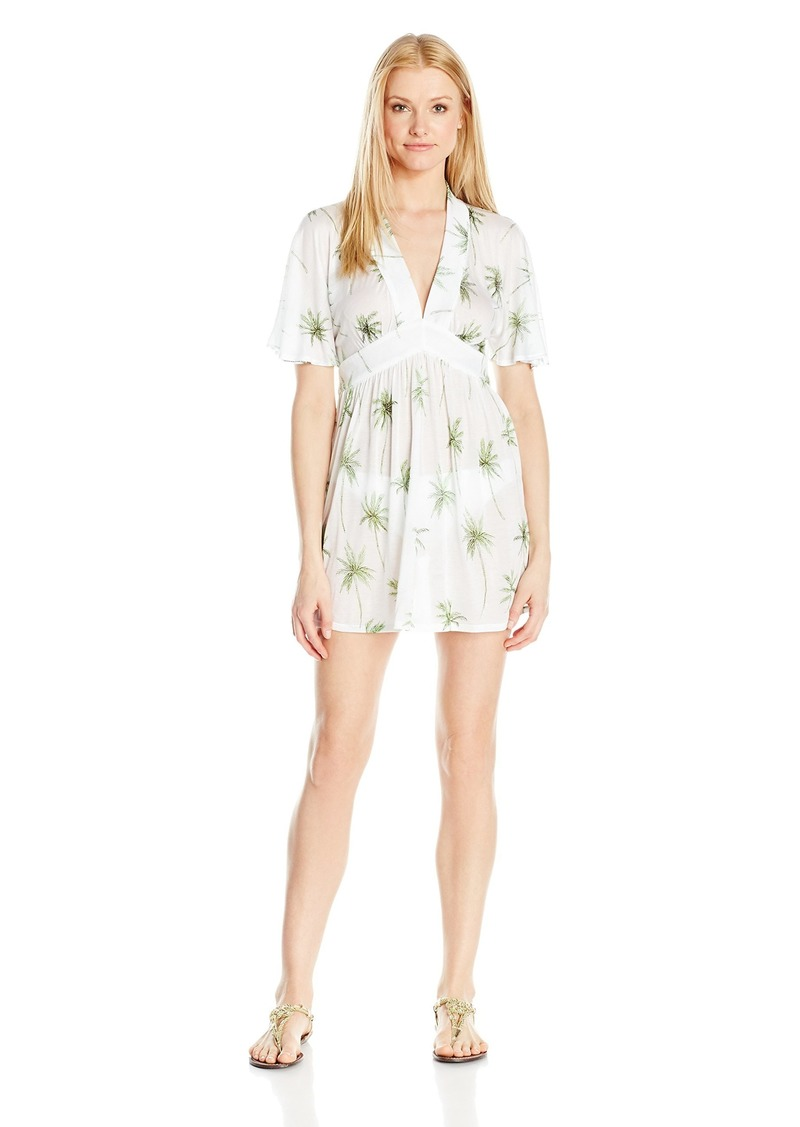 MILLY Women's Palm Print Bari Dress Cover Up  L