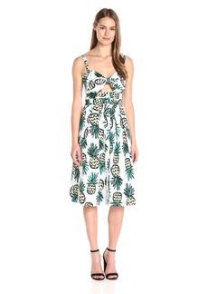 MILLY Women's Pineapple-Print Jordan Tie Dress