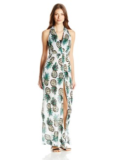 MILLY Women's Pineapple Print La Spezia Maxi Cover up