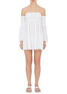 Milly Women's Plissé Off-The-Shoulder Dress