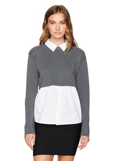 MILLY Women's Removable Shirting Sweater  L