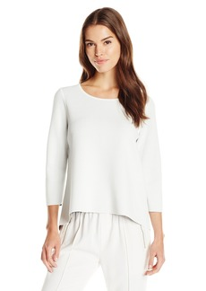 MILLY Women's Reversible Double Face Pullover