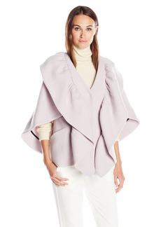 MILLY Women's Ruffle Cape Jacket  M