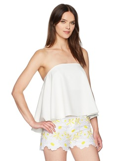MILLY Women's Ruffle Strapless Top