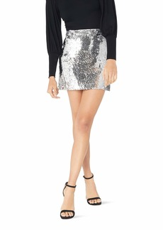 MILLY Women's Sequin Modern Mini Skirt with Self Waistband