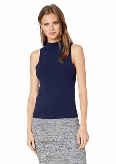 MILLY Women's Sleeveless Mock Neck Knit Shell  S