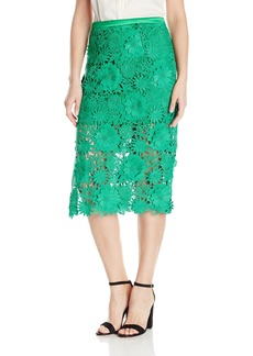 Milly Women's Slim Midi Skirt