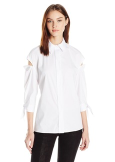 MILLY Women's Slitted Avery Top  M