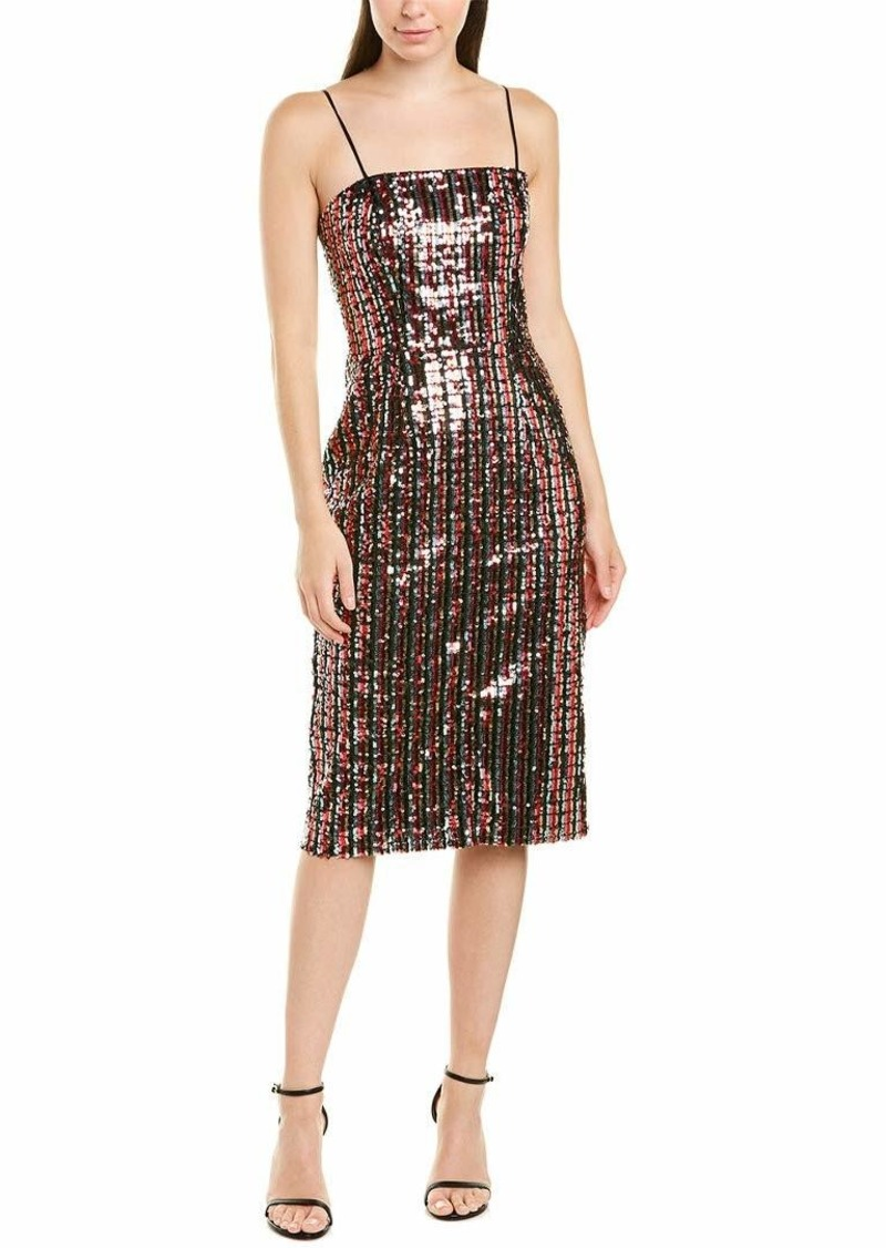 MILLY Women's Spaghetti Strap color Sequins Pencil Dress