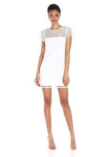 MILLY Women's Square Eyelet Illusion Chloe Dress