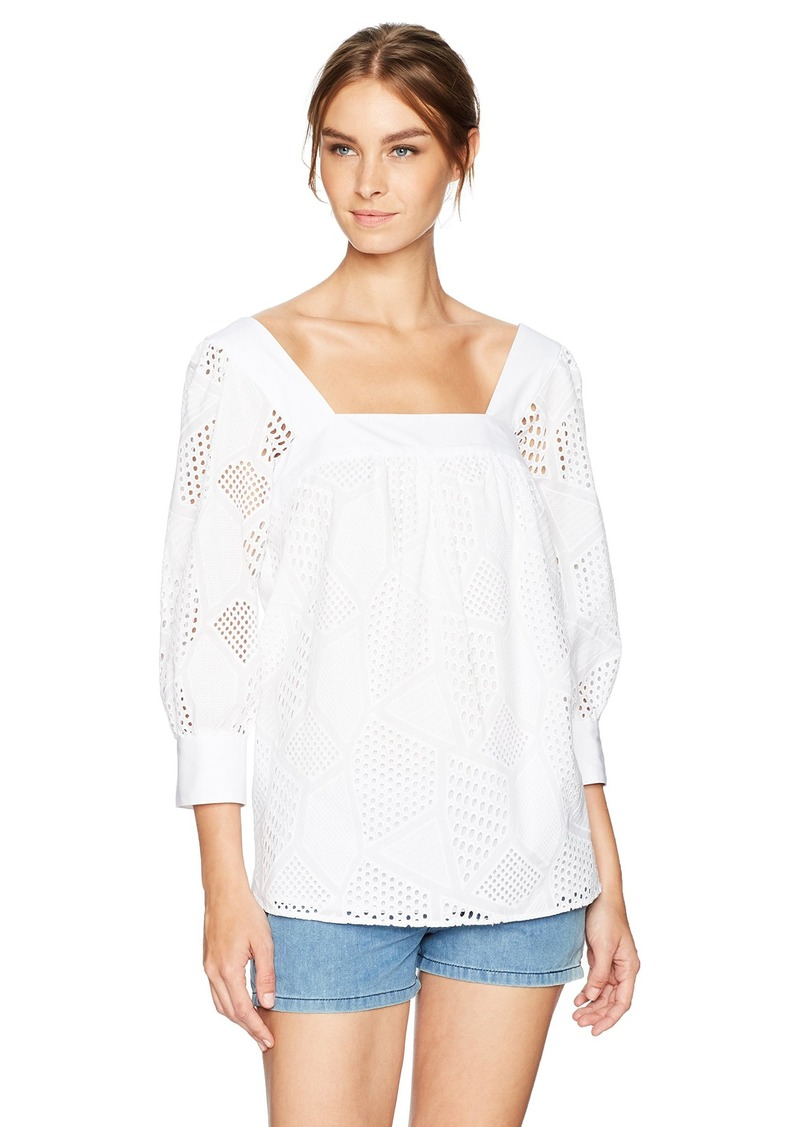 MILLY Women's Square Neck Top-Lining