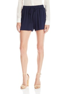 Milly Women's Stretch Silk Crepe Gathered Shorts