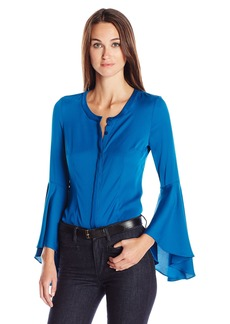 Milly Women's Stretch Silk Ruthie Blouse