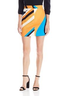 MILLY Women's Swirl Print Modern Mini Skirt