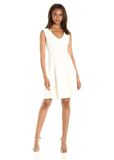 MILLY Women's Textured Godet Dress  S