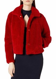 MILLY Women's Tricot Faux Lamb Fur Ellery Jacket  M