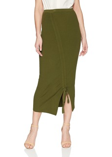 MILLY Women's Tunnel Draped Skirt  L