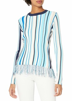 MILLY Women's Vertical Stripe Pullover  S