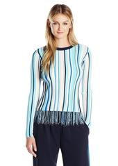 MILLY Women's Vertical Stripe Pullover  M