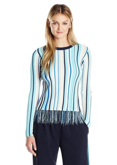 MILLY Women's Vertical Stripe Pullover  XS