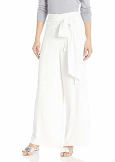 MILLY Women's Washed Chalky Wide Leg tie Pants  S