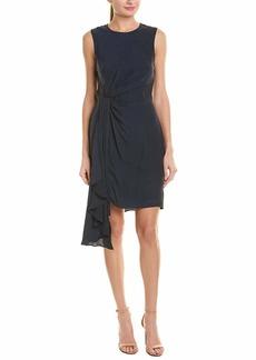 MILLY Women's Washed Stretch Silk Rachel Dress