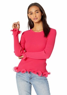 MILLY Women's Wired Edge Pullover  S
