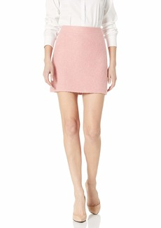 MILLY Women's Wool Boucle Modern Mini Skirt