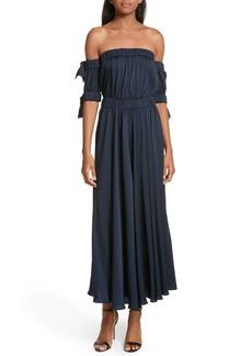 Milly Zoey Stretch Silk Maxi Dress