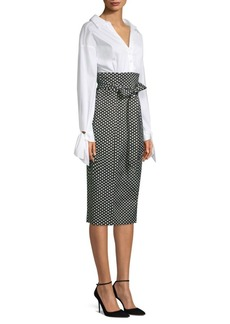 Milly Miranda Polka-Dot Shirt Dress